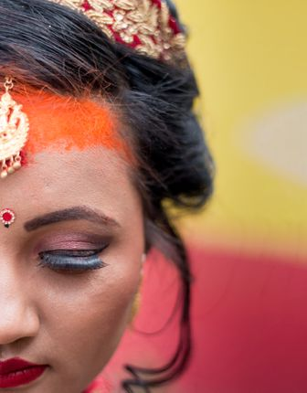 Girl,looks,more,beautiful,in,their,wedding,day,,traditional,Nepali,Bride.