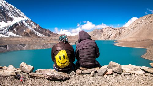 Just,Smile,,as,you,find,the,perfect,spot,to,share,your,company,-,Tilicho,Lake