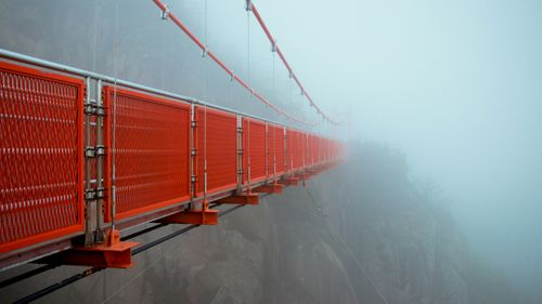 adventure,cloud,bridge,wolchulsan,national,park,yeongam,south,korea