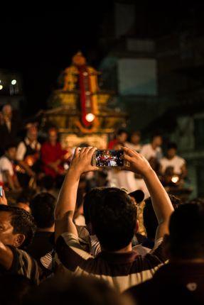 man,capturing,image,kumari,chariot,indrachwok