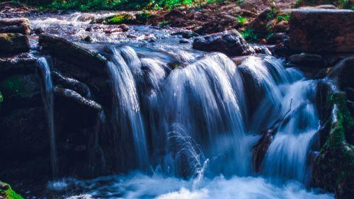small,water,fall,godawari,botanical,garden