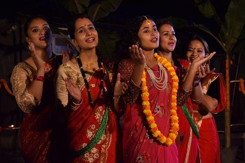 girls,bhailo,tihar,festival