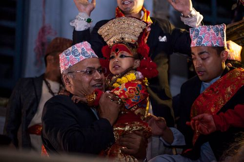 living,goddess,nepal