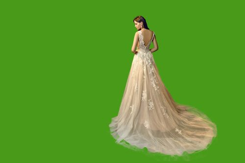 bride,removalbe,green,screen,background