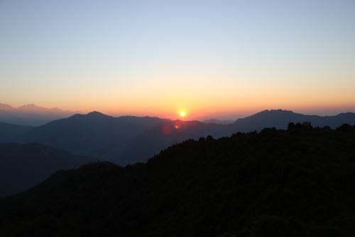 sunrise,bhakunde,baglung