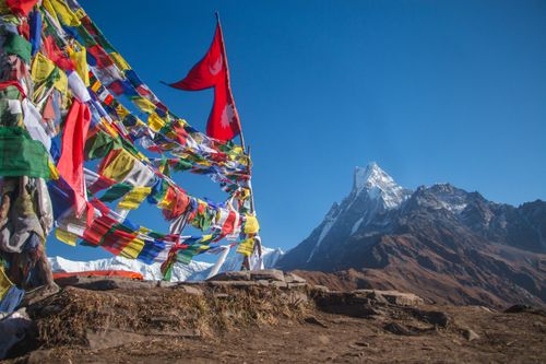 nepal,flag,beautiful,mardi,himal,back