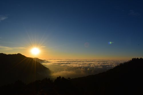 early,morning,sunrise,view,poonhillnepal