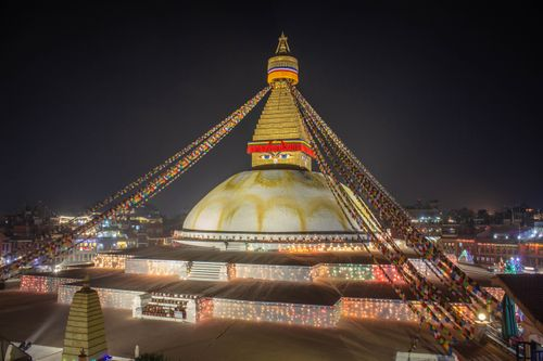 boudhanath,stupa,night,time