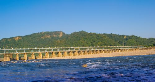 view,chure,hill,bagmati,river,bridge
