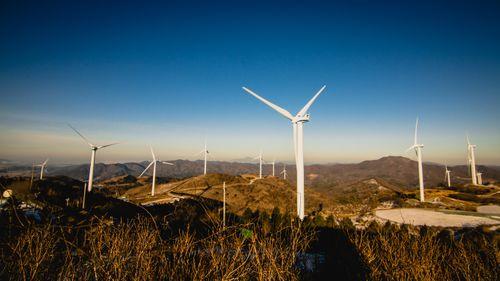 wind,turbine,photo,yeongam,south,korea