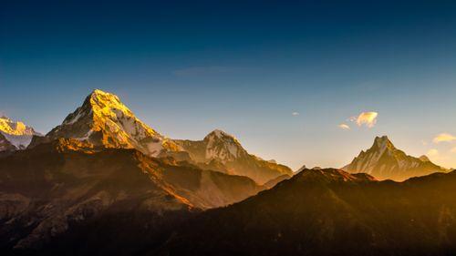 mountain,annapurna,range,capture,poonhill,nepal