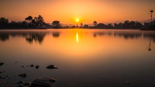 sunrise,photo,taudah,lake,kathamndu,nepal