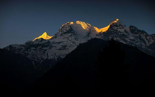 golden,ray,mount,ganesh,ii,range,north,face,photo,chumling,gorkha,nepal