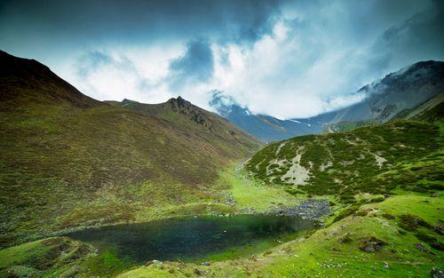 beautiful,cheseong,lake,chum,valley,gorkha,nepal