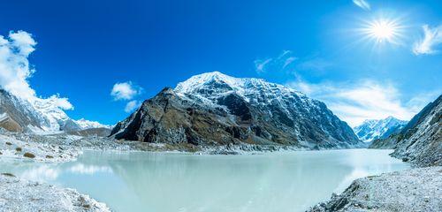 panorama,view,tsho,rolpa,glacial,lake,dolakha,nepal