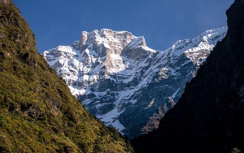 beautiful,view,mount,gaurishankar,tsho,rolpa,lake,dolakha,nepal