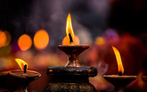 burning,candle,light,kathmandu,nepal