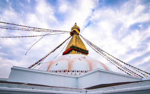 beautiful,view,baudha,stupa,kathmandu,nepal