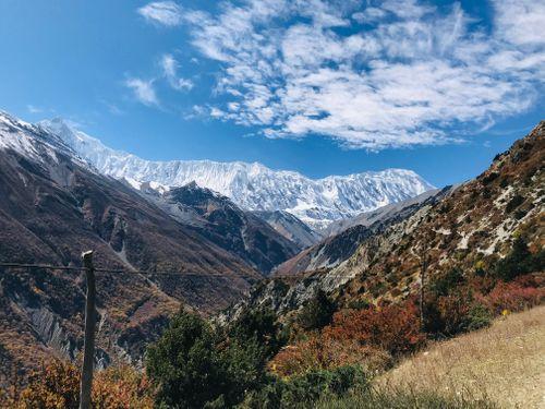 surreal,view,mountain,range,shree,khadka,manang,district