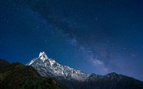 beautiful,night,view,mount,machhapuchhrefishtail,hicamp,mardi,trek,kakski,nepal