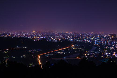 kathmandu,valley,chobar,hill,time,tihar,festival,light