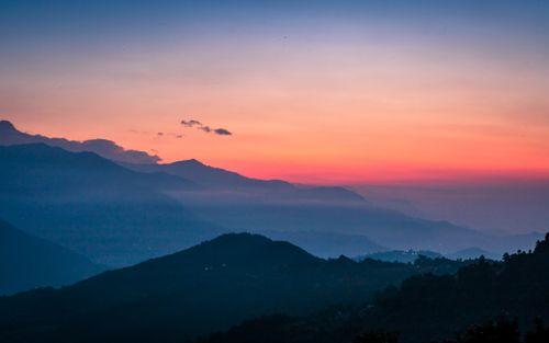 beautiful,sunrise,dhampus,kaski,nepal