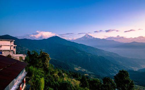 beautiful,mountain,range,dhampus,kaski,nepal