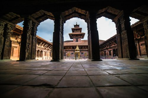 patan,museum,displays,traditional,sacred,art,nepal,illustrious,architectural,setting,home,residential,court,darbar,royal,palaces,malla,kings,kathmandu,valley,gilded,door,window,face,beautiful,squares,world