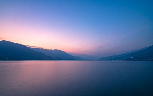 beautiful,evening,view,fewa,lake,pokhara,nepal