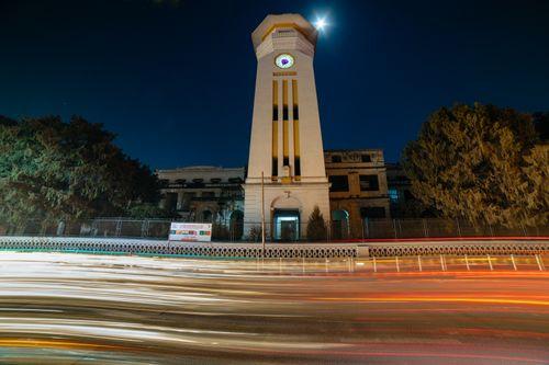 ghantaghar,public,tower,clock,nepal,situated,heart,capital,city,kathmandu,original,designed,big,ben,london,western,influence,crept,nepalese,architecture,rana,era