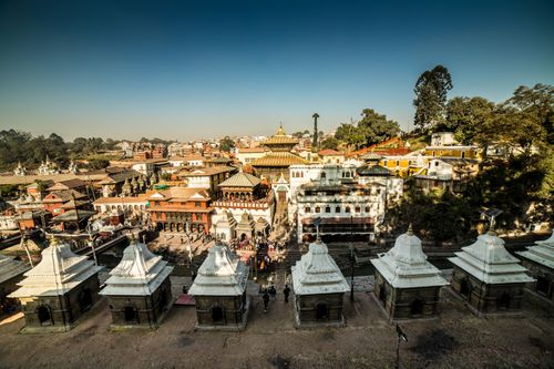 pashupatinath,temple,famous,sacred,hindu,complex,located,banks,bagmati,river,approximately,km,north-east,kathmandu,eastern,part,valley,capital,nepal,serves,seat