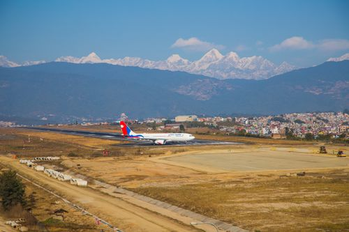 tribhuvan,international,airport,kathmandu,nepal,located,valley,kilometres,city,center,served,airfield,inaugurated,king,mahendra,received,current