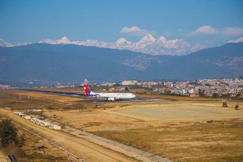 tribhuvan,international,airport,kathmandu,nepal,located,valley,kilometres,city,center,served,airfield,inaugurated,king,mahendra,received,current