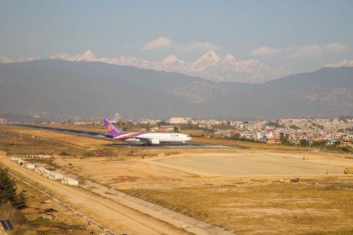 thai,airways,boeing,spotted,tribhuwan,international,airport