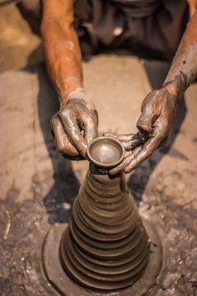 clay,potter,work,hands