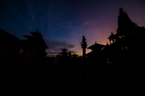 beautiful,evening,view,patan,durbar,square