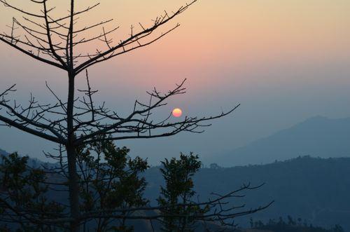 sunset,view,palpa,nepal