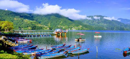 fewa,lake,view,morning,time