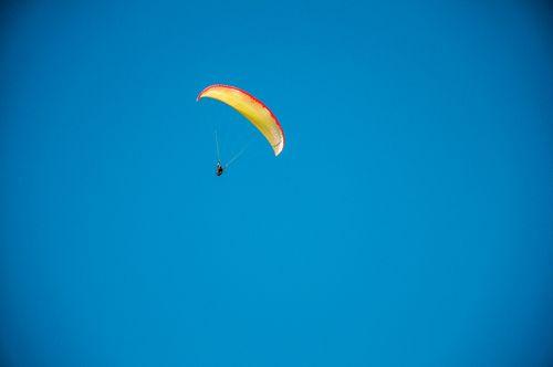 man,flying,sky,paragliding,pokhara,nepal