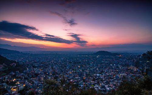 morning,view,kathmandu,valley,nepal