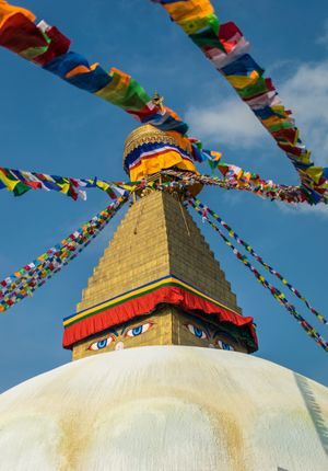 prayers,flag,flutter,windy,day,boudhanath