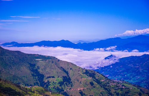 landscape,rural,settlement,mountains,nepal