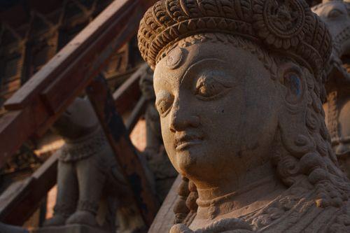 ancient,stone,sculpture,bhaktapur,nepal