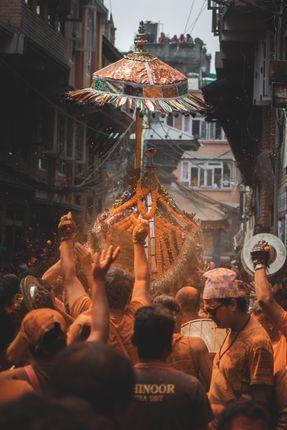 sindoor,jatra,oldest,culture,celebrated,newar,people