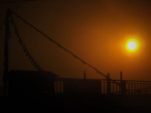 beautiful,sunset,captured,bharatpur