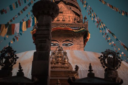 |,lord,buddha's,eye,kathmandu,valley,exposed,nicely,color,graded,picture,stupa/pagoda,swayambhunathkathmandunepal