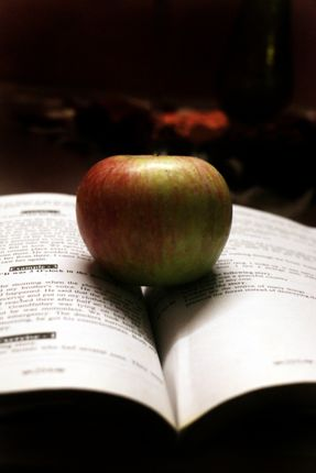 apple,reflection,heart#,sms,photography
