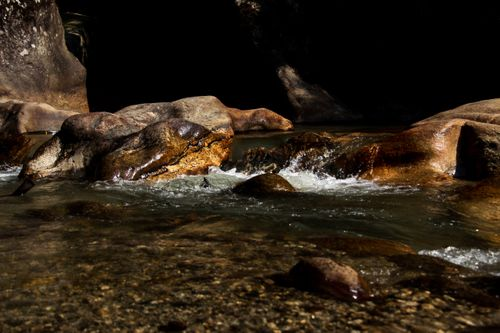 shot,rivulet,making,cave