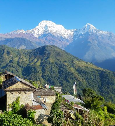 view,ghandruk,nature,beauty