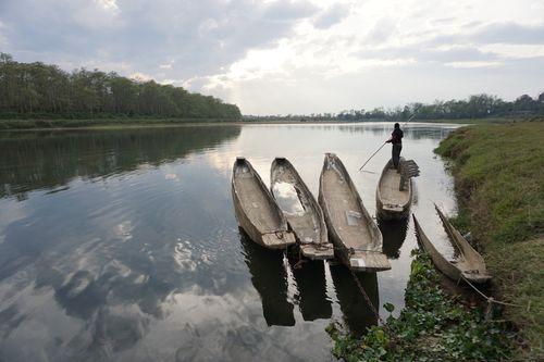 locam,man,boating,rapti,river,chitwan,national,park